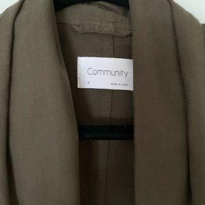Aritzia Jackets & Coats - Aritzia Community Shawl Collar Jacket NWT